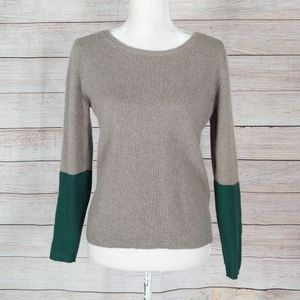 Anthro Bellerose Colorblock Button Back Sweater